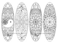 Mandala-Coloring-Bookmarks-oval, oval bookmarks