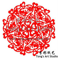 Instant Download-Mandala Style Paper Cut Pattern- Hearts Pattern-002