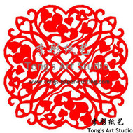 Instant Download-Mandala Style Paper Cut Pattern- Hearts Pattern-003
