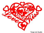 Instant Download-Heart Shape Paper Cut Pattern - 005