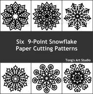 Instant Download-Six 9-points Snowflake-1 (Rare patterns)
