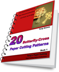 Instant Download: 20 Butterfly-Cross Paper Cutting Patterns (e-Book)