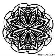 Instant Download-Mandala Style Paper Cut Pattern-004
