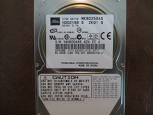 Toshiba MK8025GAS HDD2188 S ZK01 S 610 A0/KA023H 80gb IDE (Donor for Parts) 16HG0068S (T)
