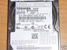 TOSHIBA MK8032GSX, HDD2D32 T ZK01 T, 80GB, SATA