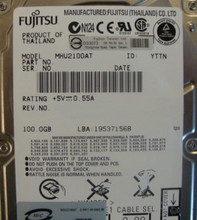 "10 pc. lot Fujitsu MHU2100AT 2.5"" 100gb 4200rpm ATA HDD (DOD tested & Wiped)"