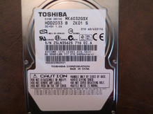 Toshiba MK6032GSX HDD2D33 B ZK01 S 010 A0/AS311G 60gb Sata