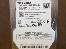 Toshiba MK2561GSY HDD2E84 D UL02 T FW:MC001D 250gb Sata (Donor for Parts)