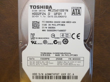 Toshiba MK2561GSYN HDD2F24 D UF01 T FW:MH000D 250gb Sata (Donor for Parts)