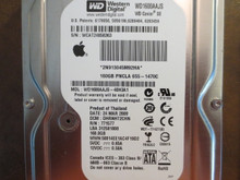 Western Digital WD1600AAJS-40H3A1 DCM:DHRNHT2CHN Apple#655-1470C 160gb Sata (Donor for Parts)
