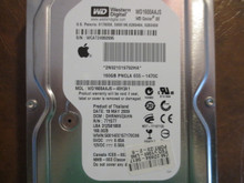 Western Digital WD1600AAJS-40H3A1 DCM:DHRNHV2AHN Apple#655-1470C 160gb Sata (Donor for Parts)