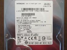 Hitachi HDS723020BLA642 PN:0F16980 MLC:MNR6P0 Apple#655-1727B 2.0TB Sata  (Donor for Parts)