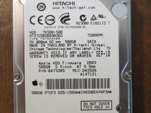 Hitachi HTS725050A9A362 PN:0A73385 MLC:DA3526 Apple#655-1589A 500gb Sata (Donor for Parts)