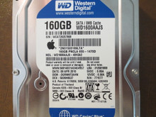 Western Digital WD1600AAJS-40H3A2 DCM:DGRNNT2AHN Apple#655-1470D 160gb Sata
