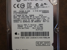 Hitachi HTS545032B9SA02 PN:0A77543 MLC:DA3190 Apple#655-1539C 320gb Sata