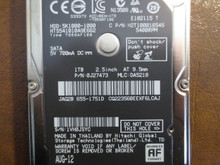 Hitachi HTS541010A9E662 PN:0J27473 MLC:DA5218 Apple#655-1751D 1000gb Sata