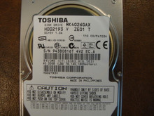 Toshiba MK4026GAX HDD2193 V ZE01 T 110 C0/PA103H 40gb IDE  (Donor for Parts) 943B0816T