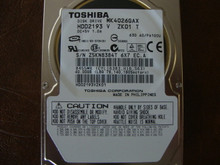 Toshiba MK4026GAX HDD2193 V ZK01 T 630 A0/PA100U 40gb IDE  (Donor for Parts) 62612-01