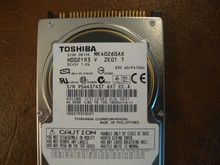 Toshiba MK4026GAX HDD2193 V ZK01 T 630 A0/PA100U 40gb IDE  (Donor for Parts) 95A43743T