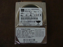 Toshiba MK8025GAS HDD2188 F ZK01 S 610 A0/KA024A HP# 389918-001 80gb IDE (Donor for Parts)