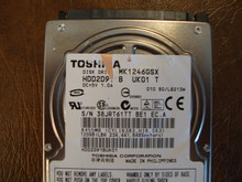 Toshiba MK1246GSX HDD2D91 B UK01 T  010 B0/LB213M 120gb  Sata (Donor for Parts) 38JRT61TT
