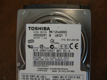 Toshiba MK1246GSX HDD2D91 B UK01 T  010 B0/LB213M 120gb  Sata (Donor for Parts) 28BVTRQZT