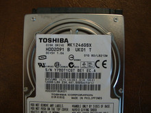 Toshiba MK1246GSX HDD2D91 B UK01 T  010 B0/LB213M 120gb  Sata (Donor for Parts) Y7QDT1CGT