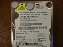 WD WD1200BEVS-60UST0 DCM:HHCTJANB 120gb Sata (Donor for Parts)