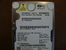 WD WD1600BEVS-26VAT0 DCM:HBCV2BBB 160gb Sata (Donor for Parts)