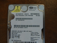 WD WD1600BEVS-26VAT0 DCM:HBCVJBNB 160gb Sata (Donor for Parts)