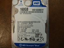 WD WD1600BEVT-00ZCT0 DCM:FHNTJABB 160gb Sata (Donor for Parts)