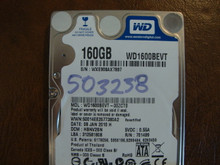 WD WD1600BEVT-00ZCT0 DCM:HBNV2BN 160gb Sata (Donor for Parts)