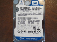 WD WD1600BEVT-08A23T1 DCM:HECTJHBB FW:02.01A02 160gb Sata (Donor for Parts)
