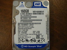 WD WD1600BEVT-22ZCT0 DCM:FAYT2HBB 160gb Sata (Donor for Parts)