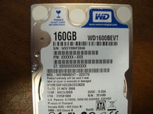 WD WD1600BEVT-22ZCT0 DCM:HACVJBBB 160gb Sata (Donor for Parts)