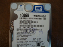 WD WD1600BEVT-22ZCT0 DCM:HHNV2BBB 160gb Sata (Donor for Parts)