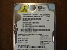 WD WD2500BEVS-60UST0 DCM:HHCT2HBB 250gb Sata (Donor for Parts) WXE608D78809