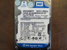WD WD2500BEVT-08A23T1 DCM:HECTJABB FW:02.01A02 250gb Sata (Donor for Parts)