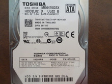 Toshiba MK6475GSX HDD2L02 D UL02 B FW:GT002D 640gb Sata (Donor for Parts) 61P8B760B