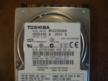 Toshiba MK2035GSS HDD2A30 B ZK01 S 020 A0/DK020M 200gb Sata (Donor for Parts) 67PFG90NS