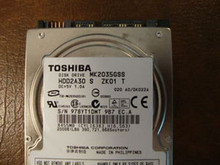 Toshiba MK2035GSS HDD2A30 S ZK01 T 020 A0/DK022A 200gb Sata (Donor for Parts)