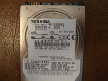 TOSHIBA MK1032GSX HDD2D30 S ZK01 T 010 D0/AS021G SATA 100GB 46I31619T