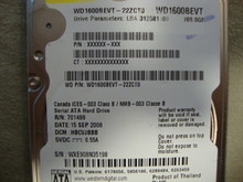 WESTERN DIGITAL WD1600BEVT-22ZCT0 DCM:HBCVJBBB SATA 160GB