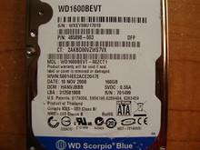 WESTERN DIGITAL WD1600BEVT-60ZCT1 DCM:HANVJBBB (U17018)