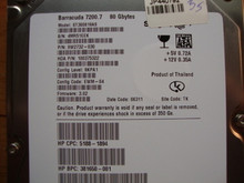 SEAGATE ST380819AS, 80GB, SATA, 9W2732-030, FW: 3.02, TK 4MR51EEK