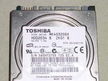 TOSHIBA MK4032GSX, HDD2D34 B ZK01 S, 40GB, SATA 250631811254