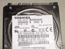 TOSHIBA MK8032GSX, HDD2D32 B ZK01 S, 80GB, SATA 250513466632
