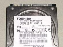 TOSHIBA MK8032GSX, HDD2D32 B ZK01 S, 80GB, SATA 190419094855
