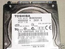 TOSHIBA MK8032GSX, HDD2D32 V ZK01 S, 80GB, SATA 360197978747