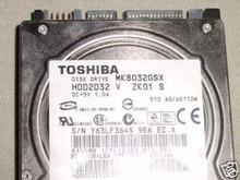 TOSHIBA MK8032GSX, HDD2D32 V ZK01 S, 80GB, SATA 360197979294